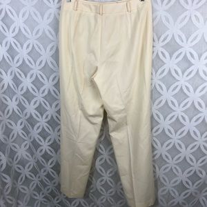 Talbots Pants - Talbots Stretch Ivory Made in Italy Wool Pants